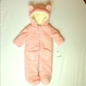 BNWT Full Fleece Infant Cozy Footed Onsie